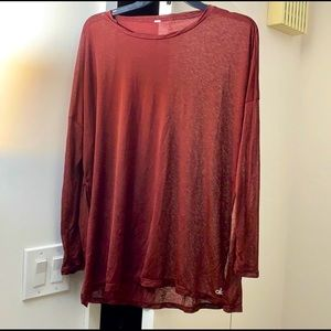 Alo yoga Alolux Glimpse Long Sleeve Pullover